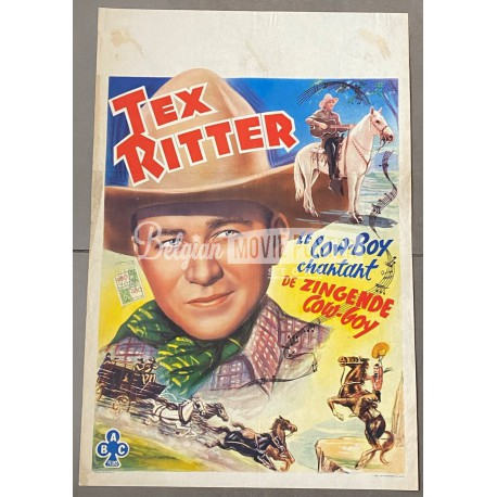 TEX RITTER, THE SINGING COWBOY