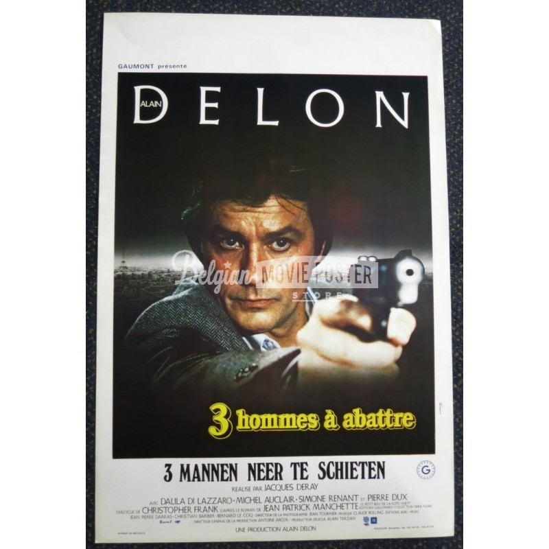 3 hommes a abattre belgian movie poster store