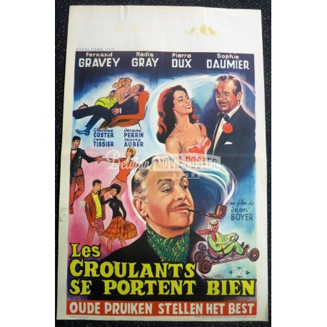 Croulants se portent bien belgian movie poster store for Portent french