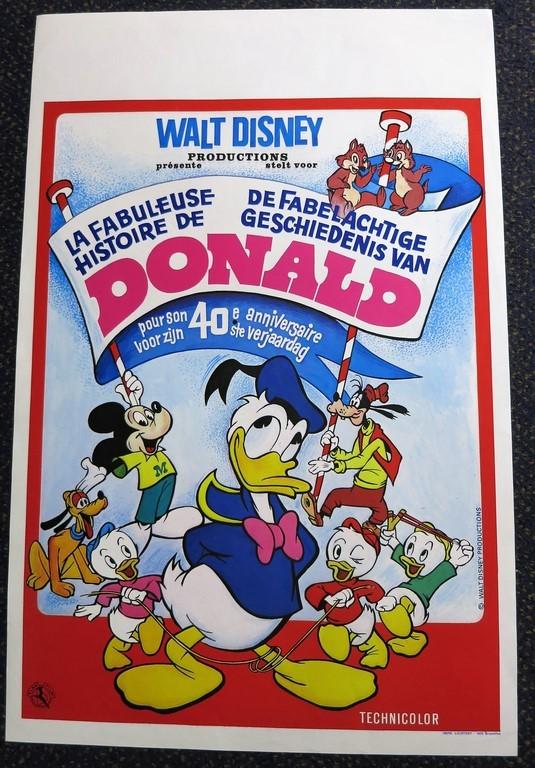 Verjaardag Donald Duck.Donald Duck Story Donald Duck S Frantic Antic Belgian Movie Poster Store